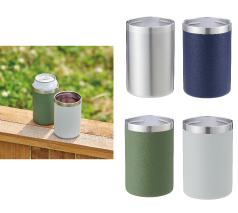 2WAYステンレスタンブラー350ml缶対応 回転シルク印刷