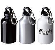 アルミボトル300ml カラビナ付(回転シルク印刷専用)