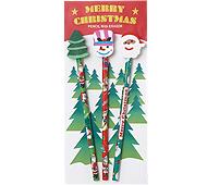 クリスマス消しゴム付鉛筆(3本セット)