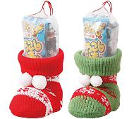 クリスマス ニットブーツ(お菓子入)