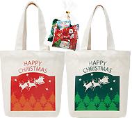 クリスマス・トートバッグ(キャンディ5粒入)