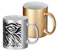 ゴールド・シルバー陶器マグカップ 320ml 全周名入れ専用