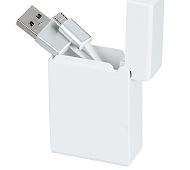 巻き取り式USBケーブル(micro USB) (白)