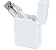 巻き取り式 iPhone用USBケーブル(Lightning) (白)