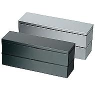メタリック2段ランチボックス