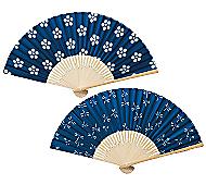 白竹藍染涼風扇子1本