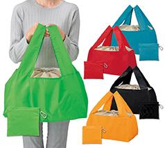 Ecolor 折りたたみ買い物かごバッグ 1個