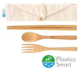 プラスチックスマート ナチュラルカトラリーセット