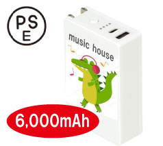 AC付きバッテリーチャージャー6000mAh フルカラー名入れ専用