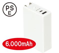 AC付きバッテリーチャージャー6000mAh