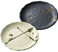 舞の海 国産美濃焼盛り皿1枚(日本製)