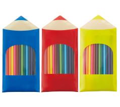 PVCケース入色鉛筆12本セット(消しゴム付)