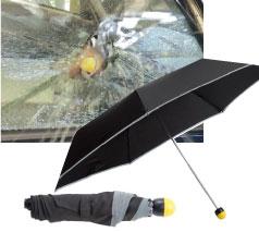 緊急脱出ハンマー付晴雨兼用折畳コンブレラ
