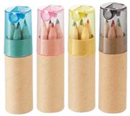 シャープナー付色鉛筆(6本入)名入れ代込み