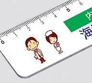PR定規ホワイト15cm 白(フルカラー名入れ)
