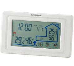 ワイヤレス室外温湿度計付クロック