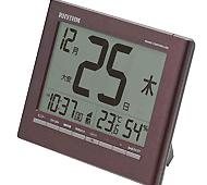 リズム時計 フィットウェーブカレンダーD208 電波時計