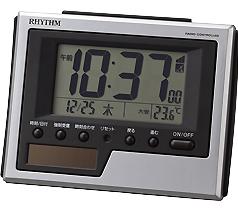 リズム時計 ソーラー電波時計8RZ215SR19