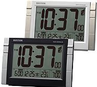 リズム時計 置き時計 電波時計