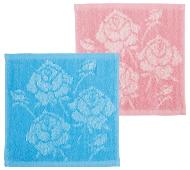 ローズ織り柄ハンドタオル