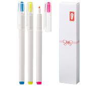 白軸・蛍光マーカーペン(3P)熨斗箱入り