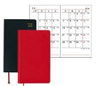 ポケット手帳 E1060(黒)E1062(赤) ユニバーサル仕様