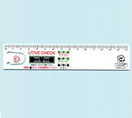 ラブチェック定規15cm(白)