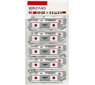 ワールドフラッグズ日本 国旗の絆創膏 10P