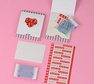 想い花 ファミールバン Mサイズ5枚+綿棒水色10本+あぶらとり紙10枚