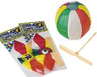 紙風船&プラ竹トンボ