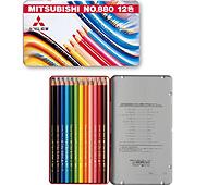 三菱鉛筆 色鉛筆880 12色