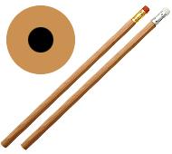 丸軸オリジナル鉛筆 消しゴム付(一周カラー印刷)