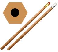 6角オリジナル鉛筆 消しゴム付(一周カラー印刷)