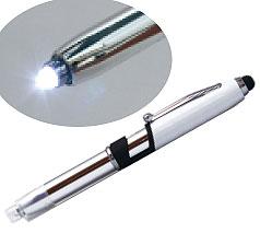 4in1ライト付きタッチペン