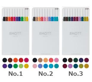 三菱鉛筆 水性サインペン エモット10色セットNo.1
