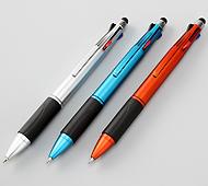 タッチペン付4色ボールペン 3色取り混ぜ