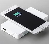 Qi対応 ワイヤレンス充電モバイルバッテリー 3200mAh