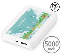 急速充電対応フラットモバイルバッテリー5000 フルカラー名入れ専用