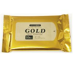 ゴールドウェットティッシュ10枚入 フルカラー印刷込み