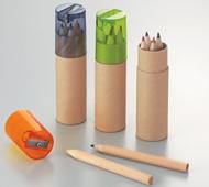 シャープナー付色鉛筆6P