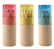 シャープナー付色鉛筆12P