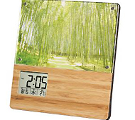 竹のフォトフレームクロック