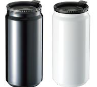 缶型サーモステンレスタンブラー 340ml 回転シルク印刷
