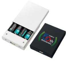 乾電池式モバイルチャージャーワイド フルカラー名入れ専用