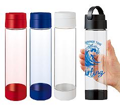 MOTTERUハンドル付クリアボトル 550ml 回転シルク印刷