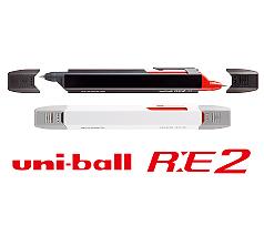 三菱鉛筆 ユニボール RE 2 (消せるキャップ付2色ボールペン)