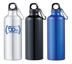 アルミスポーツボトル500(カラビナ付) 回転シルク印刷