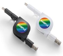 リール式USBケーブル(タイプC対応) フルカラー名入れ専用
