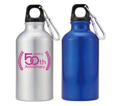 アルミスポーツボトル350(カラビナ付)回転シルク印刷
