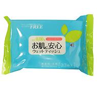 お肌に安心 大判ウェットティッシュ33枚(日本製)